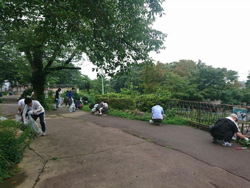 桐生が岡動物園清掃